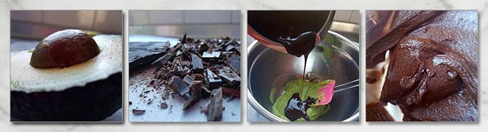 chocolade avocado truffels stap voor stap