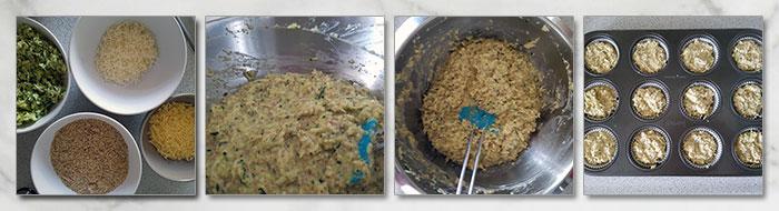 koolhydraatarme hartige muffins stap voor stap fotoos
