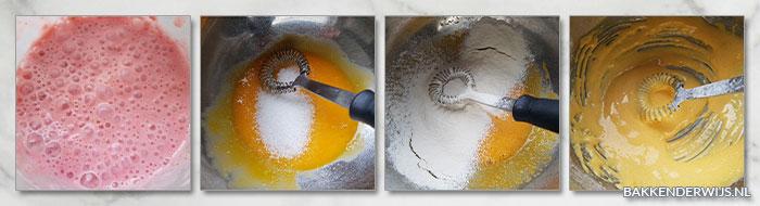 botercreme met aardbeien banketbakkersroom stap voor stap