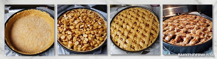 Hollandse appeltaart stap voor stap recept