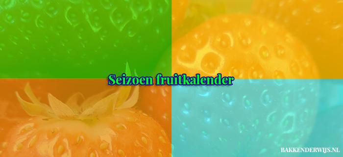 seizoen fruitkalender