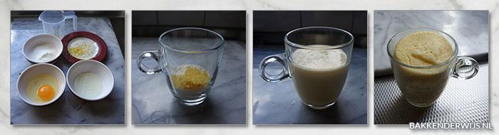 citroen mugcake stap voor stap