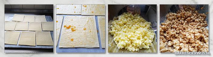 stap voor stap foto's appelflappen recept