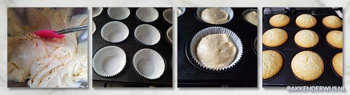 cupcake recept stap voor stap