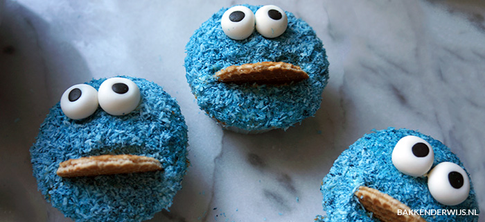 how to koekiemonster cupcakes maken