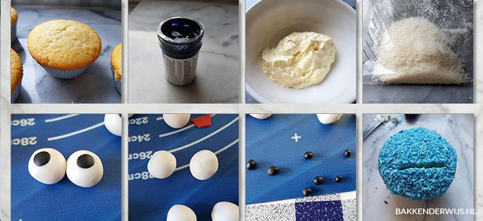 on the blog how to koekiemonste cupcakes maken
