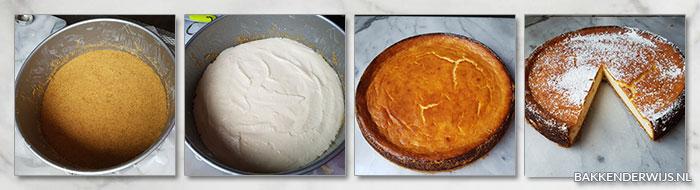 stap voor stap foto's siciliaanse ricotta cheesecake recept