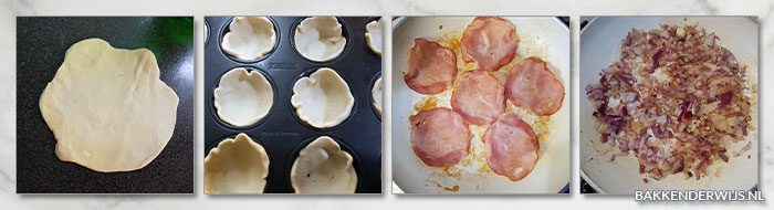 mini quiches bacon ui stap voor stap recept