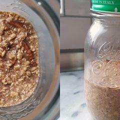 bananenbrood overnight oats recept