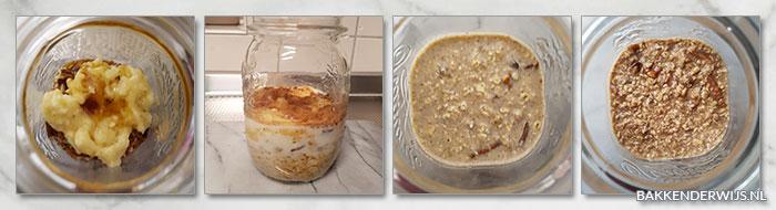 bananenbrood overnight oats stap voor stap