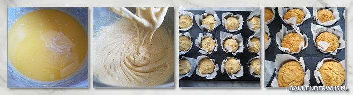 honing-kaneel cornbread muffins stap voor stap