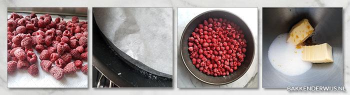 omgekeerde frambozentaart stap voor stap recept