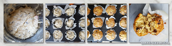 soda brood muffins stap voor stap recept