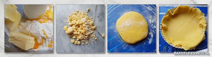 blauwe bessen citroentaart stap voor stap recept