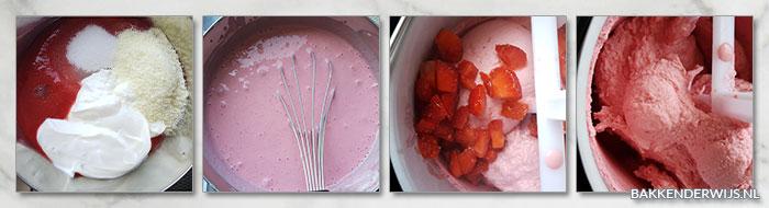 Aardbeien yoghurtijs stap voor stap recept