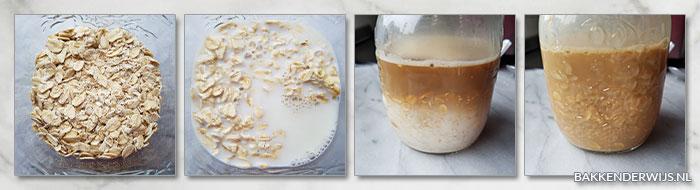 Koffie overnight oats stap voor stap recept