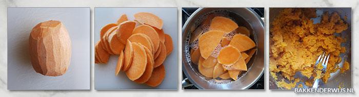 zoete aardappelmuffins stap voor stap recept