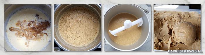koffie roomijs stap voor stap recept