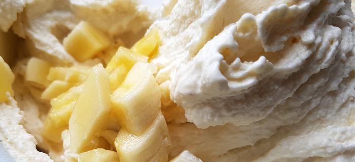 Bananen roomijs