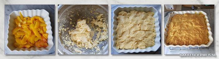 perzik cobbler stap voor stap recept