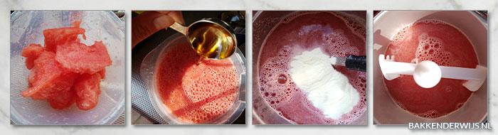 watermeloen sorbetijs stap voor stap recept