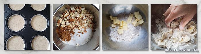 kastanje muffins stap voor stap recept