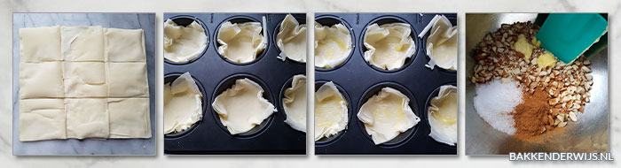 Snelle baklava stap voor stap recept