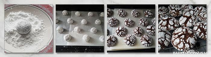 chocolade koekjes stap voor stap recept