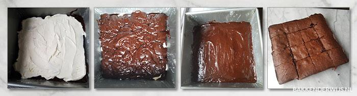 brownies met mascarpone stap voor stap