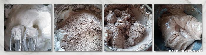 chocolade-walnoot schuimkoekjes stap voor stap recept