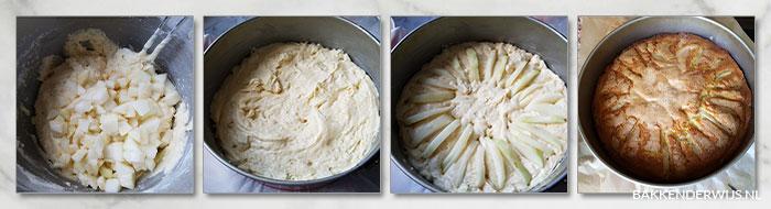 Perencake stap voor stap foto recept