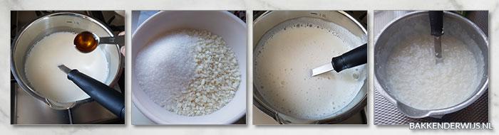 Gegratineerde rijstepap recept met kersen - stap voor stap