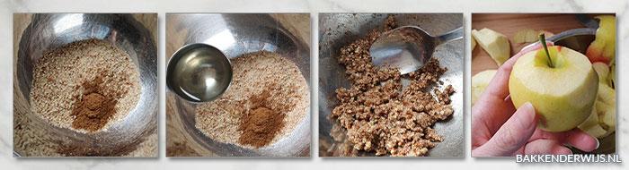 Koolhydraatarme appelcrumble stap voor stap recept