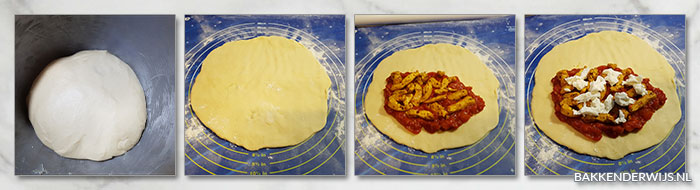 pizza calzone stap voor stap foto's recept