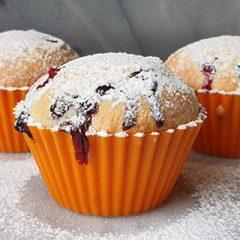 Blauwe bessen muffins airfryer recept