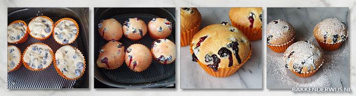 Blauwe bessen muffins airfryer stap voor stap recept