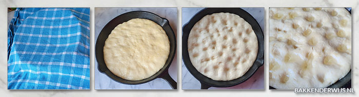skillet focaccia recept stap voor stap