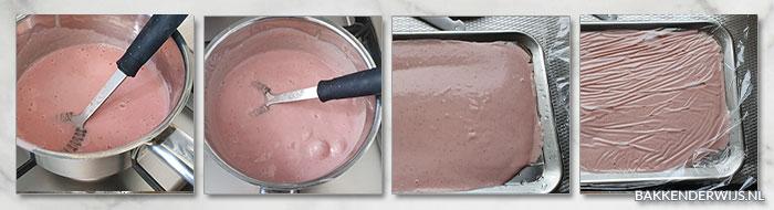Aardbeien banketbakkersroom stap voor stap recept