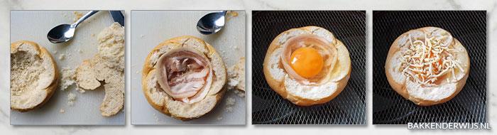 gevulde toast airfryer stap voor stap recept
