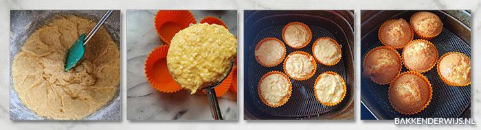 Havermout muffins airfryer stap voor stap recept