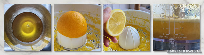 sinaasappelsorbetijs recept stap voor stap