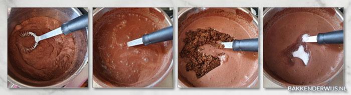 chocolade ijs maken met ijsmachine stap voor stap