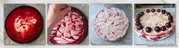 kersen yoghurttaart stap voor stap recept
