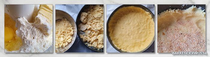 appelkruimeltaart stap voor stap recept