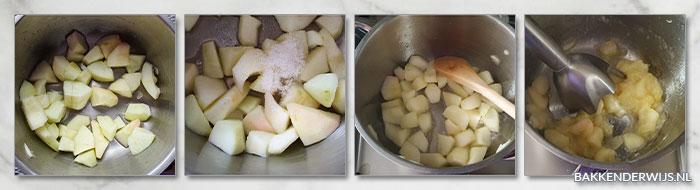 appelmoes cake stap voor stap recept