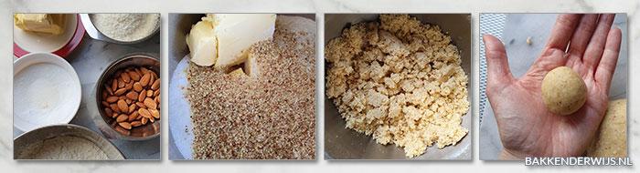 Amandel-kokos koekjes stap voor stap recept