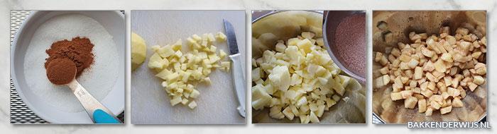 appeltaartrolletjes stap voor stap