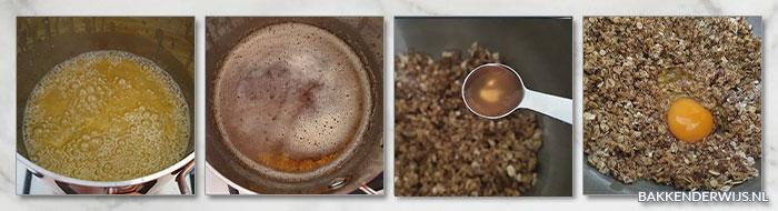 Havermoutkoeken met gebruinde boter stap voor stap recept