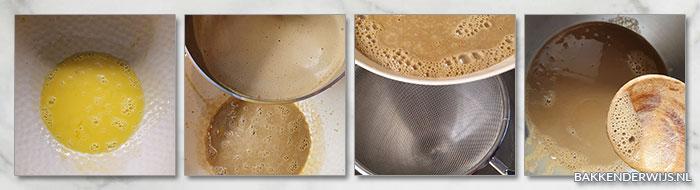 Koffiepudding in een kopje - stoomoven stap voor stap recept