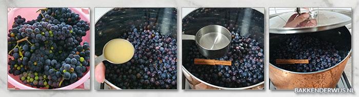 Druivenjam stap voor stap recept